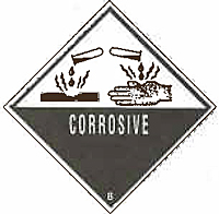 Pressure-Sensitive & High Visibility Warning Labels (A44COR)